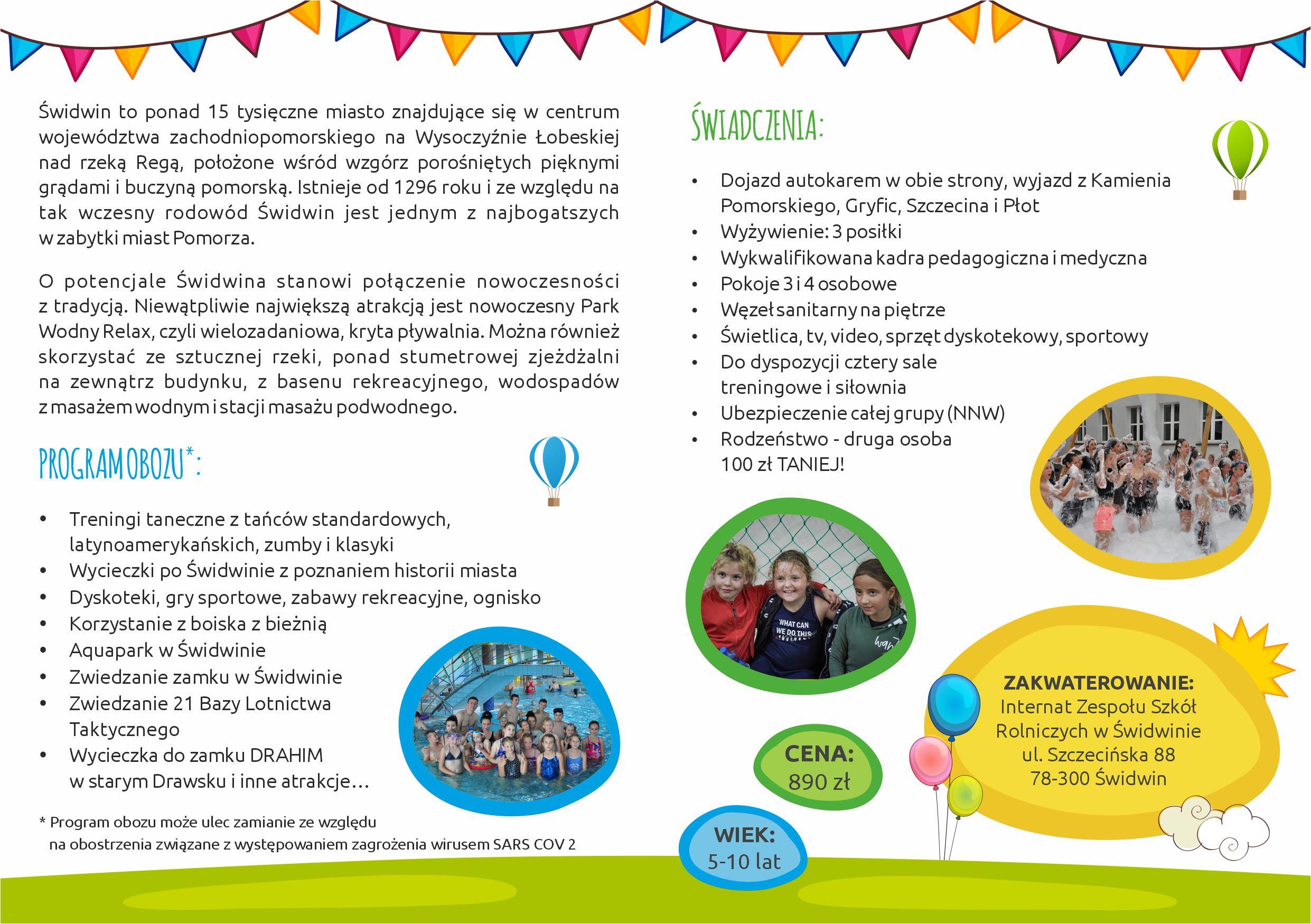 focus ulotka dla dzieci oboz2021 2
