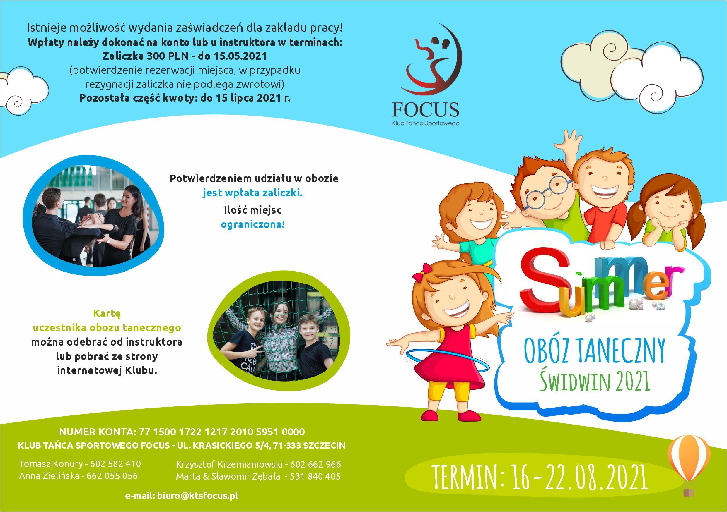 focus ulotka dla dzieci oboz2021